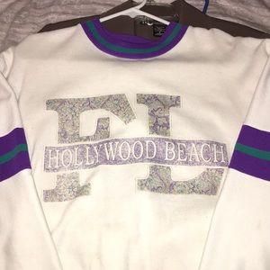 Sweaters - florida, hollywood beach sweatshirt